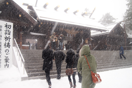 北海道神宮に参拝